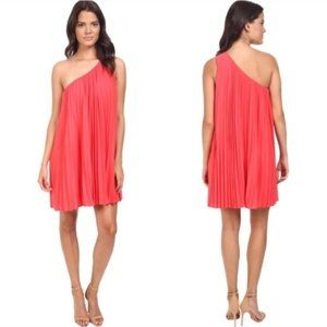 NWT Trina Turk Skyla One Shoulder Pleated Dress